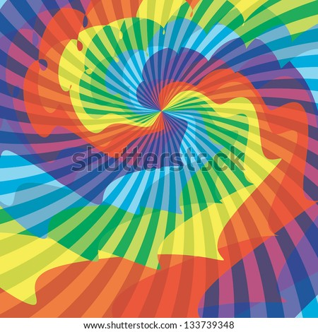 Abstract background. Colored rays. Vector illustration EPS10 - stock vector