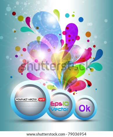 Abstract background colorful fantasy design, vector. - stock vector
