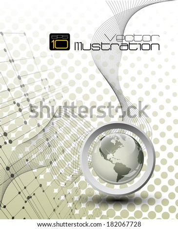 Abstract background composition with room for your text  - stock vector