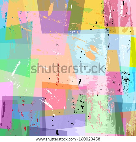 abstract background composition, with strokes and splashes, pastel - stock vector