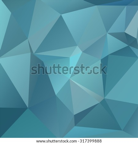 abstract background consisting of blue triangles, vector illustration - stock vector