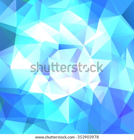 abstract background consisting of blue, white triangles, vector illustration