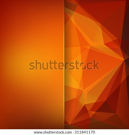 abstract background consisting of red, orange triangles, vector illustration