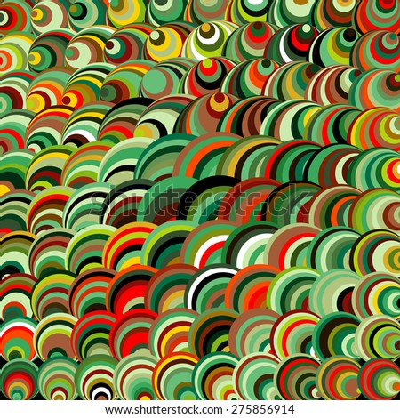 Abstract background consisting of repetitive elements of different sizes and colors