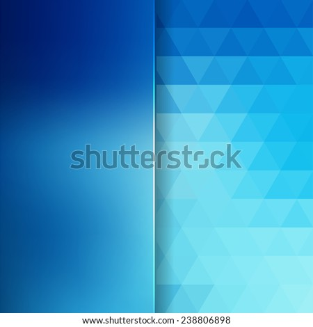 abstract background consisting of triangles and matt glass - stock vector