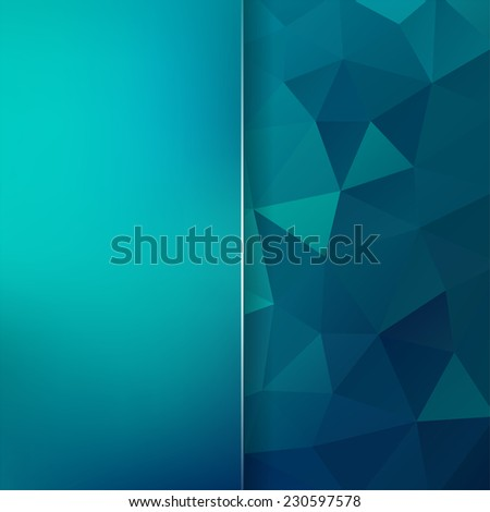 abstract background consisting of triangles and matte glass - stock vector