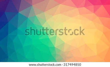 abstract background consisting of triangles for web design - stock vector