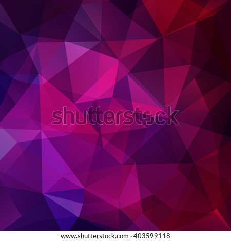 Abstract background consisting of triangles. Geometric design for business presentations or web template banner flyer. Vector illustration. Pink, purple colors.  - stock vector