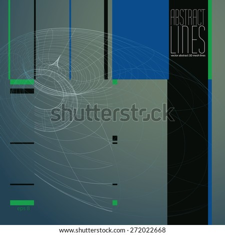Abstract background, 3D abstract lines vector illustration, clear eps 8 vector. - stock vector