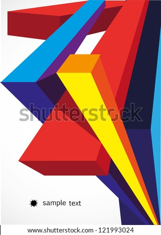 Abstract background. 3d vector forms. - stock vector