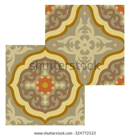 Abstract background, decoration pattern, tiled blocks
