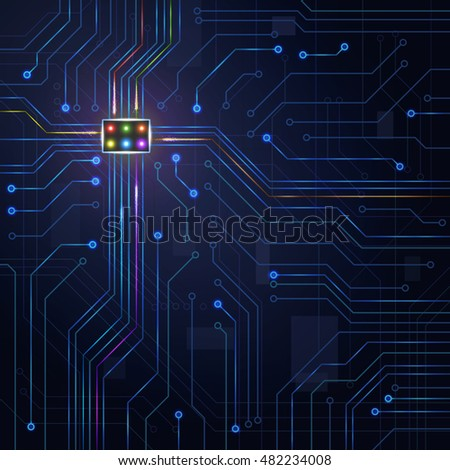 Abstract background digital technology electronic plate microchip