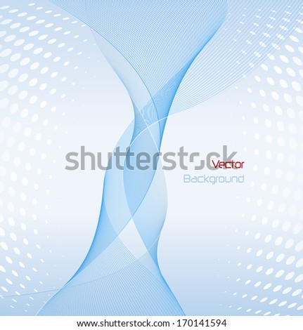 Abstract background elegant fantasy lines, vector illustration.