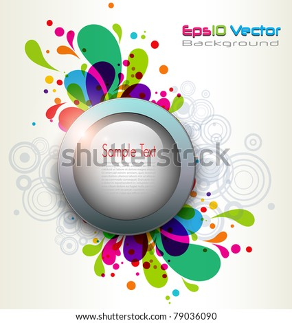 Abstract background eruption of colors, vector.