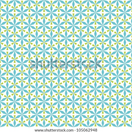 Abstract background, floral pattern - stock vector