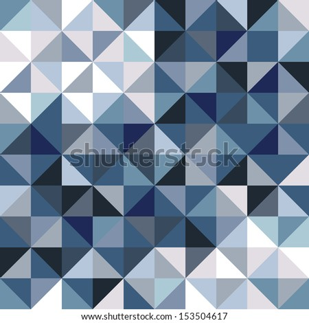 Abstract background for design, triangle and square pattern, in winter colors