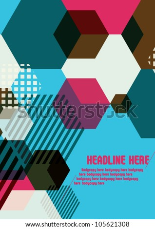 Abstract background for design, wallpaper, background - stock vector