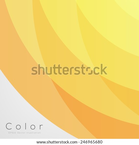 Abstract Background for Design (Yellow) | EPS10 Vector - stock vector