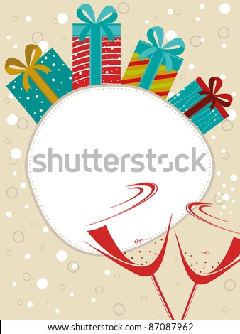 abstract background for happy new year celebration - stock vector