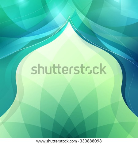 abstract background for Islamic Greeting - stock vector