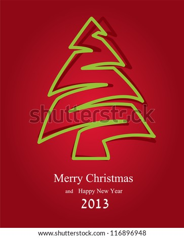 Abstract background for new year and for Christmas. Vector illustration - stock vector