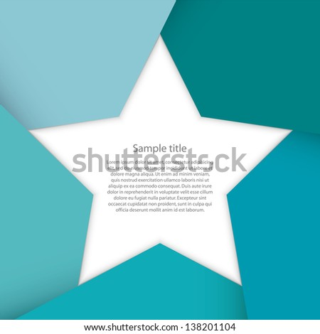 abstract background for sample text : star shape - stock vector