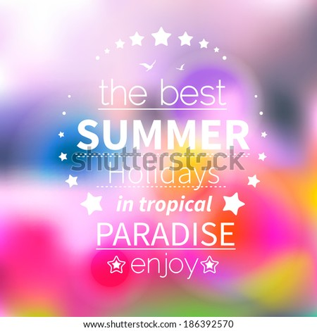 Abstract Background for Summer, vector - stock vector