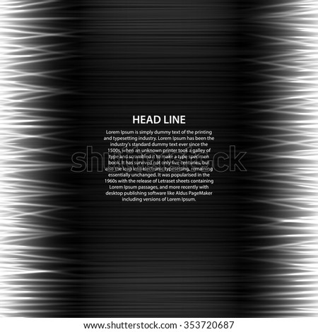 Abstract background for text labels with the technological frame, with horizontal lines on a dark background.