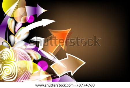 abstract background for text with arrow - stock vector