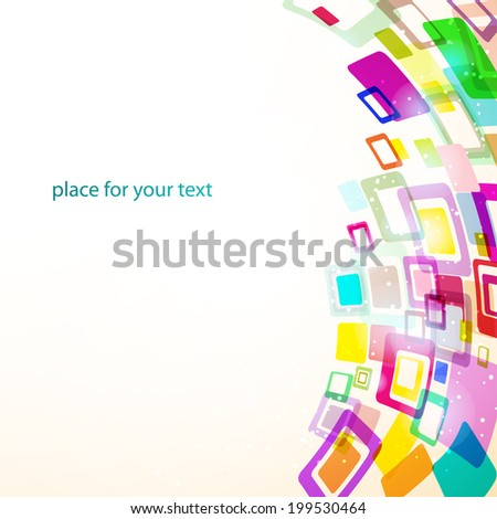 abstract background for your text. Template for business presentation - stock vector