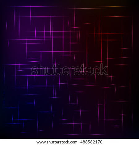 Abstract background from colored lines on a black background. The spectrum of colors. The grid of colors.