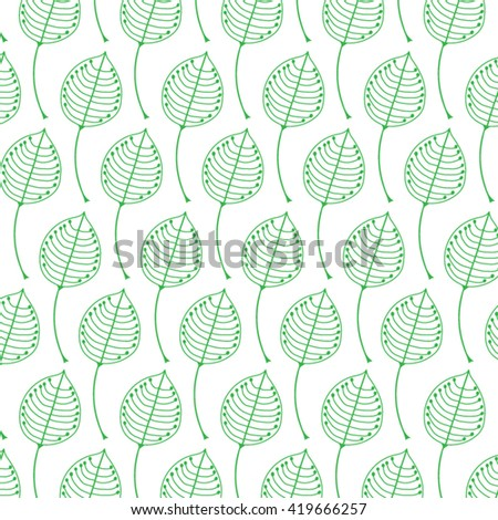 Abstract background from green  leaves for your design. Vector
