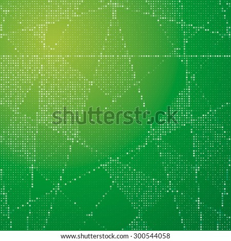 Abstract background from white circles on a green substrate. For your business presentation.