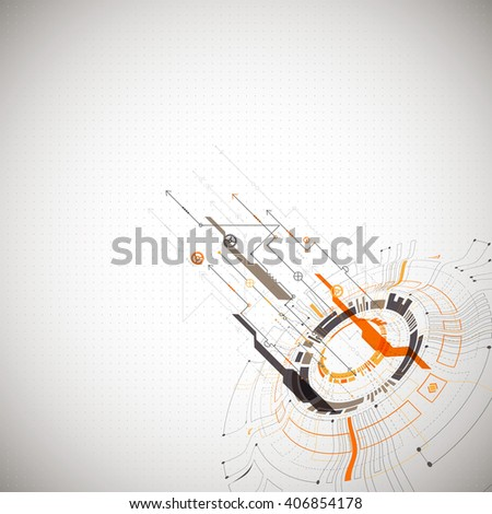 Abstract background. Futuristic technology style. Structure pattern technology backdrop. Vector - stock vector