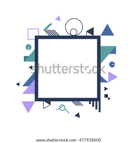 abstract background, geometric frame vector illustration
