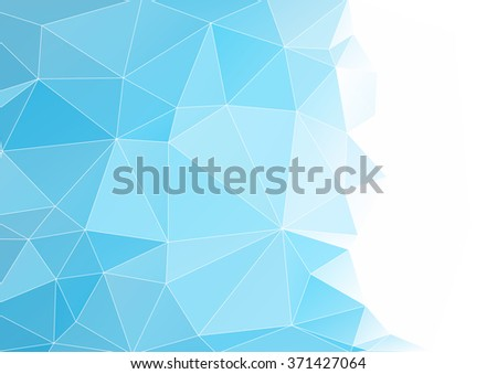 Abstract background, geometric, pattern, abstract art, blue image, graphic design, vector - stock vector