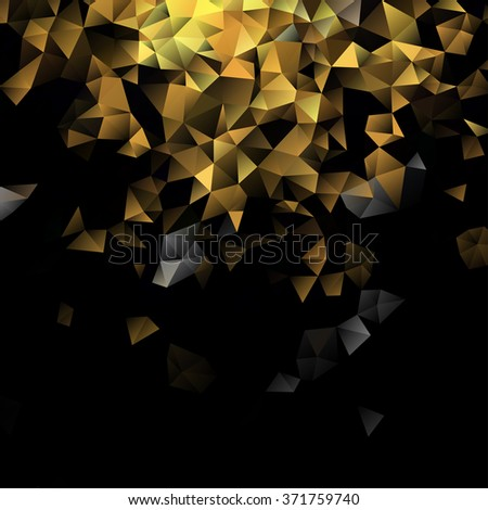 Abstract background, geometric, pattern, geometric shapes, geometric art, geometric background, mosaic pattern, geometric abstract, abstract vector, abstract art, chaos, dark image, vector - stock vector