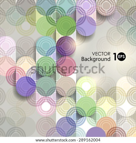 Abstract background, geometric pattern of circles. Vector eps 10. - stock vector