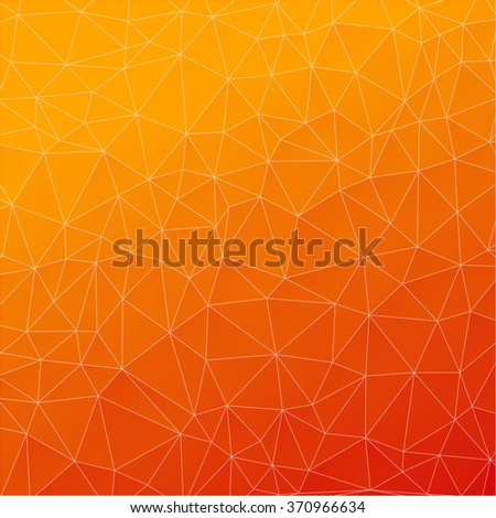 Abstract background, geometric pattern, orange - stock vector