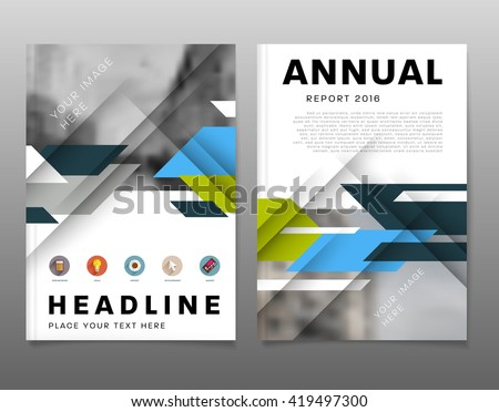 Abstract Background. Geometric Shapes and Frames for Presentation, Annual Reports, Flyers, Brochures, Leaflets, Posters, Business Cards and Document Cover Pages Design. A4 Title Sheet Template. - stock vector