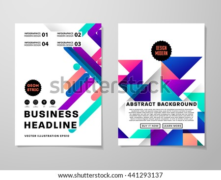 Title Page Stock Photos, Royalty-Free Images & Vectors - Shutterstock Abstract Background. Geometric Shapes and Frames for Presentation, Annual Reports, Flyers, Brochures