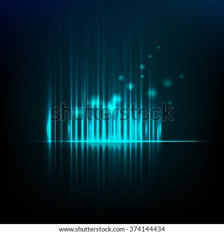 Abstract background graphic equalizer vector eps 10 - stock vector