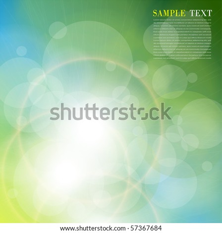 Abstract background green blue. Vector illustration. - stock vector