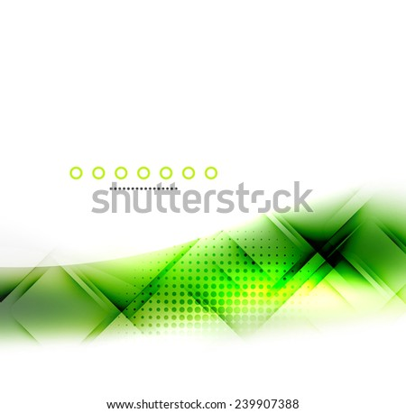 Abstract background, green wave business template, web design - stock vector
