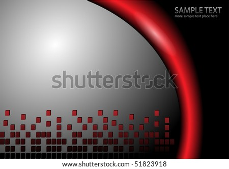 Abstract background grey and red, vector illustration. - stock vector