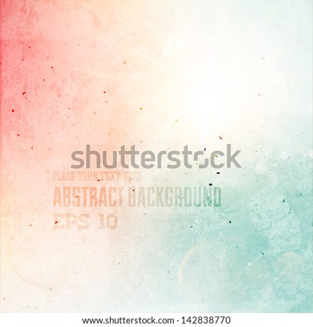 Abstract background. Grunge version. - stock vector