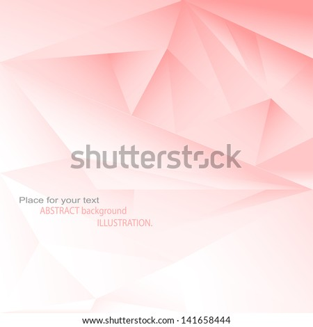Abstract background Illustration. Red abstraction for your design - stock vector