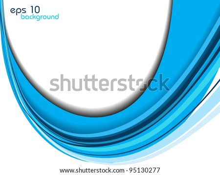 abstract background in blue.vector illustration. - stock vector