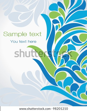 Abstract background in contemporary style - stock vector