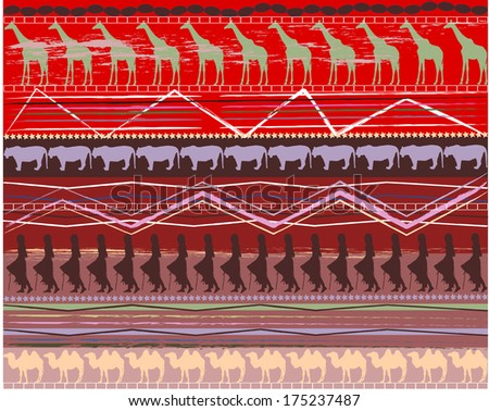 Abstract background in ethnic  style
